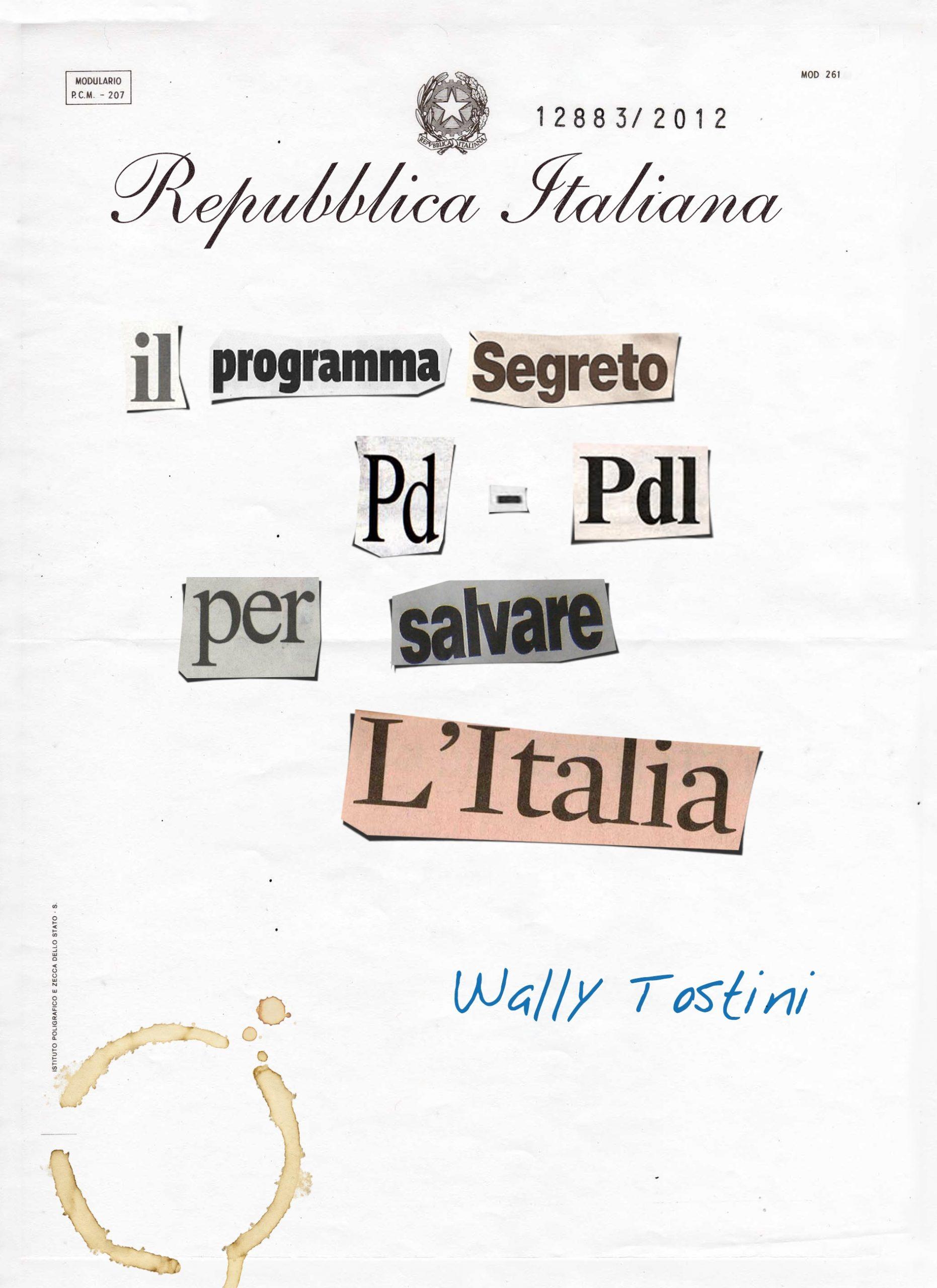 il programma segreto pd -pdl per salvare l'italia